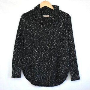 BB DAKOTA Black Speckle Knit Turtle Neck Sweater